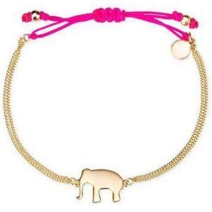 stella and dot pink Elephant Bracelet